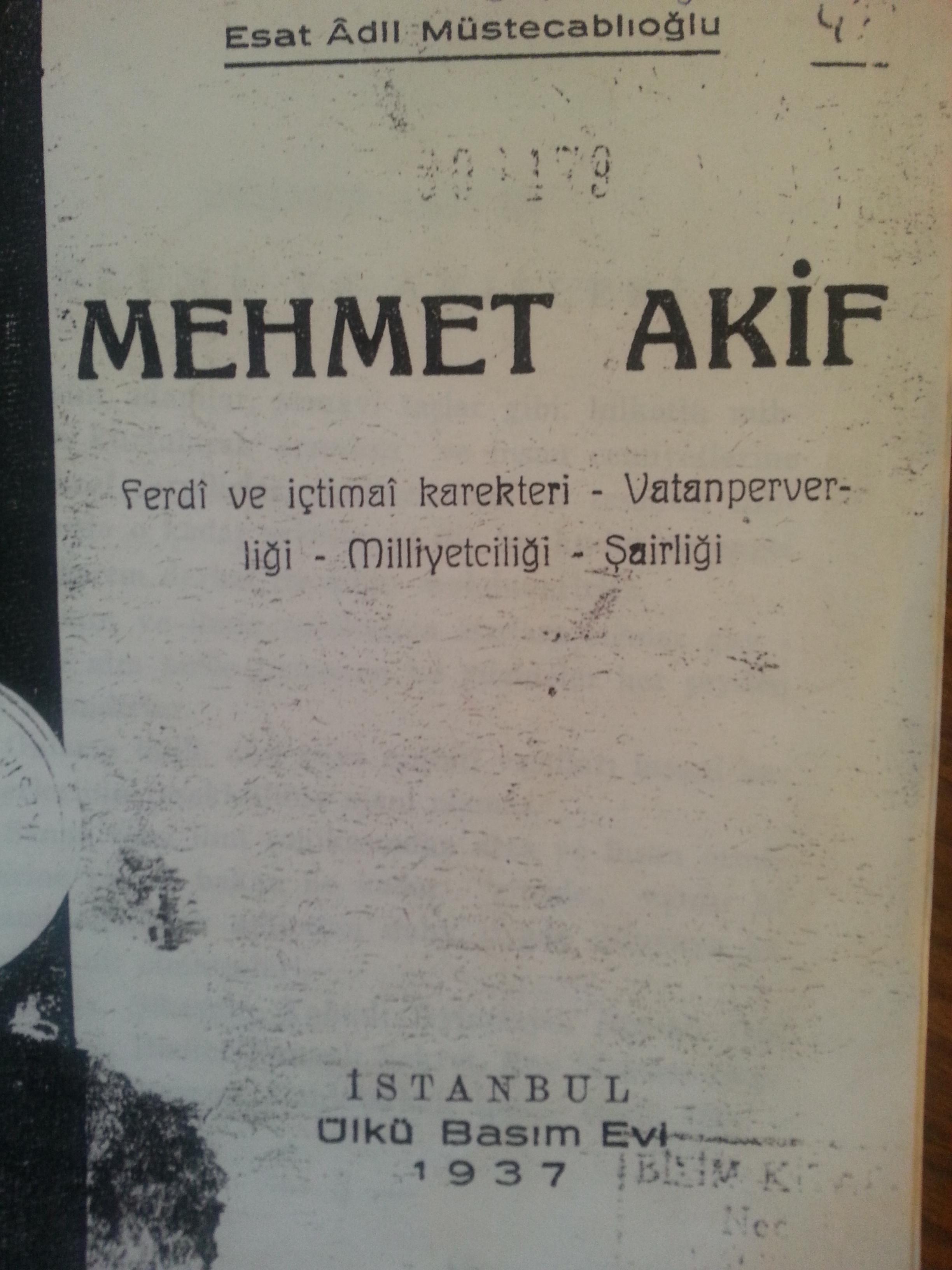 Mehmet Akif Ersoy - Biyografya